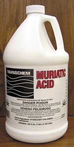 muriatic acid bottle