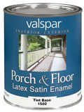 valspar porch & floor latex stain enamel