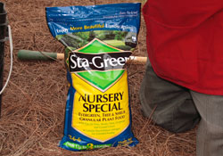 add Sta-Green fertilizer